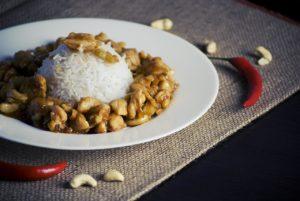rice and cashews