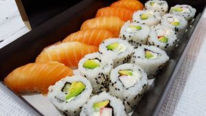 sushi rice meal