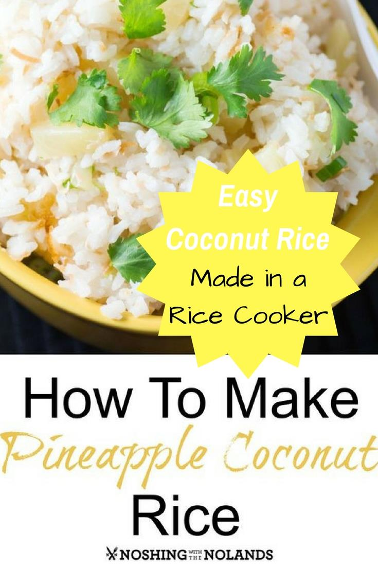 Easy Coconut Rice Recipe with Pineapple. This coconut rice is made in a rice cooker making it simple to prepare. A tasty coconut rice side dish.