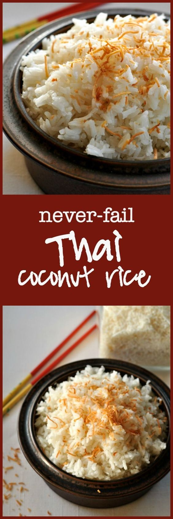 This is an easy coconut rice recipe for fluffy Thai coconut rice. You can pair with with Thai cuisine or other dishes.