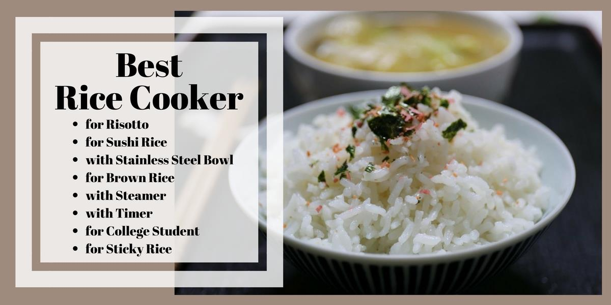 The Best Rice Cooker for each person. Perfect rice every time.