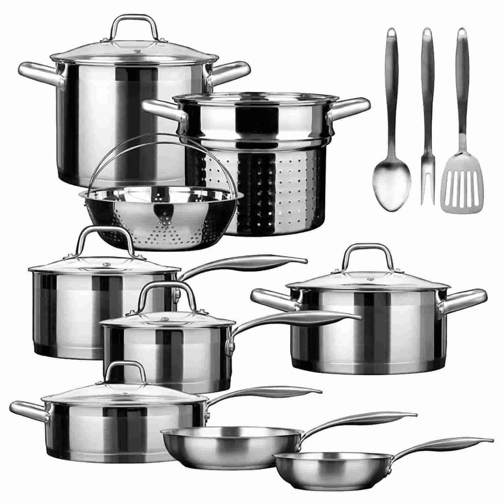 Best Induction Cookware Sets Duxtop Stainless Steel