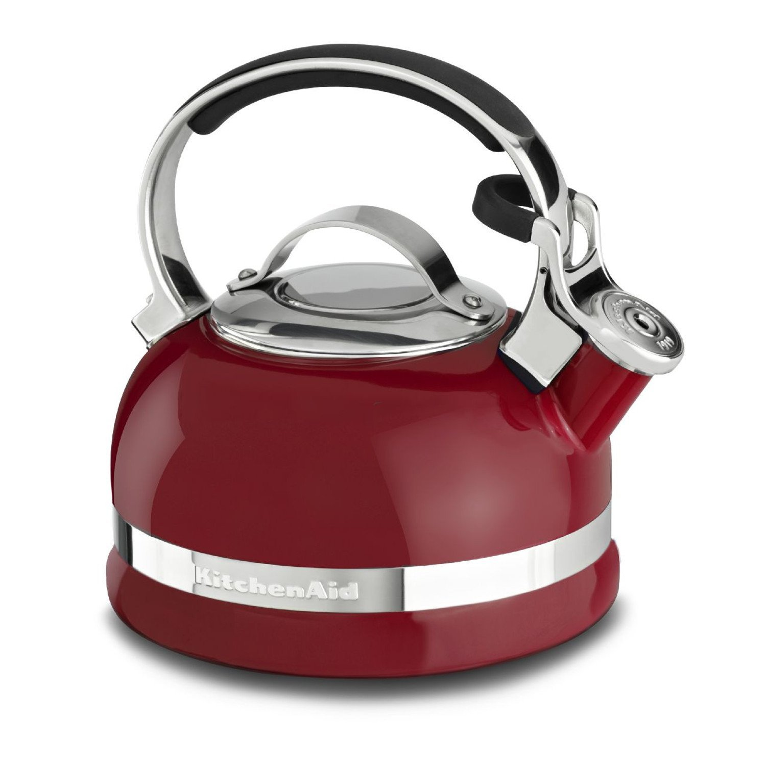 KitchenAid red appliance stovetop kettle