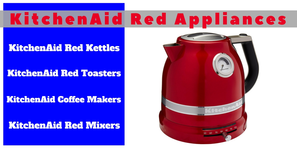 Kitchenaid Red Appliances Header