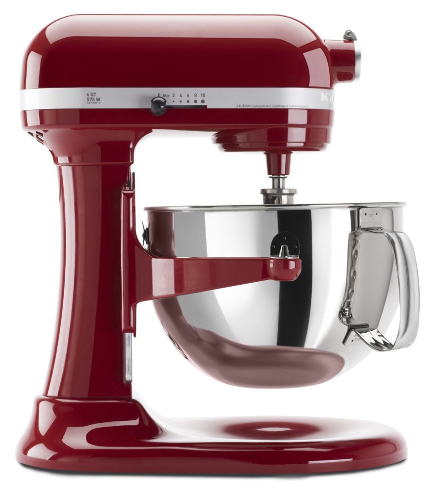 Kitchenaid red appliances mixer 6qt