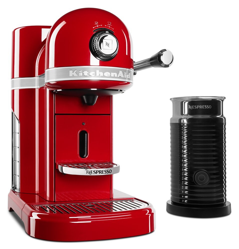 Kitchenaid red appliances nespresso