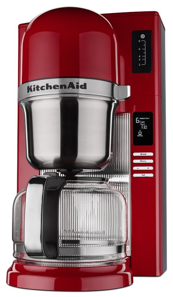 Kitchenaid red appliances pour over