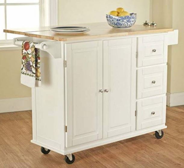 Kitchen Island White Medium